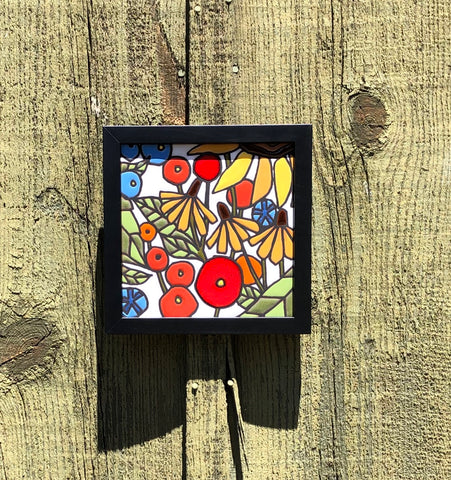 Garden Tile in Custom Black Frame