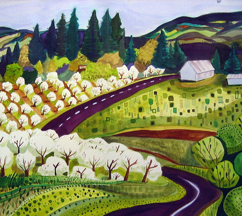 GICLEES - Hood River Fruit Loop In Full Bloom