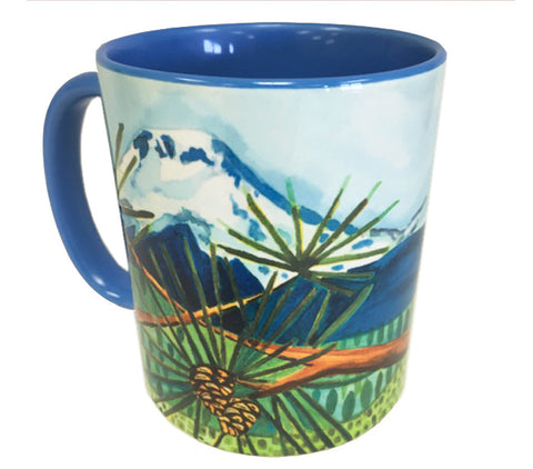 KATHY'S MUGS - Mountains and Pinecones