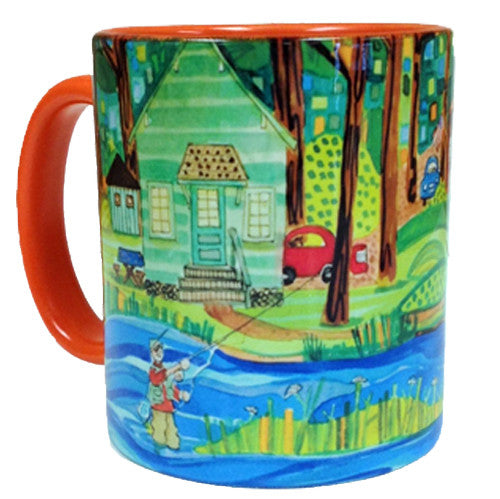 KATHY'S Mugs - Wishin' I was Fishin'