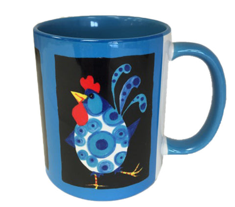 KATHY'S MUGS - Chickens Blue