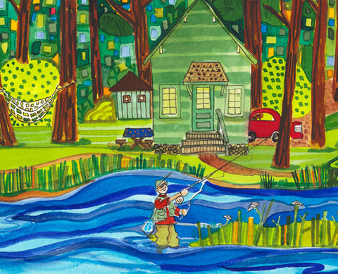 GICLEES - Wishin' I Was Fishin'