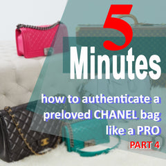5 minutes to tell an authentic Chanel bag