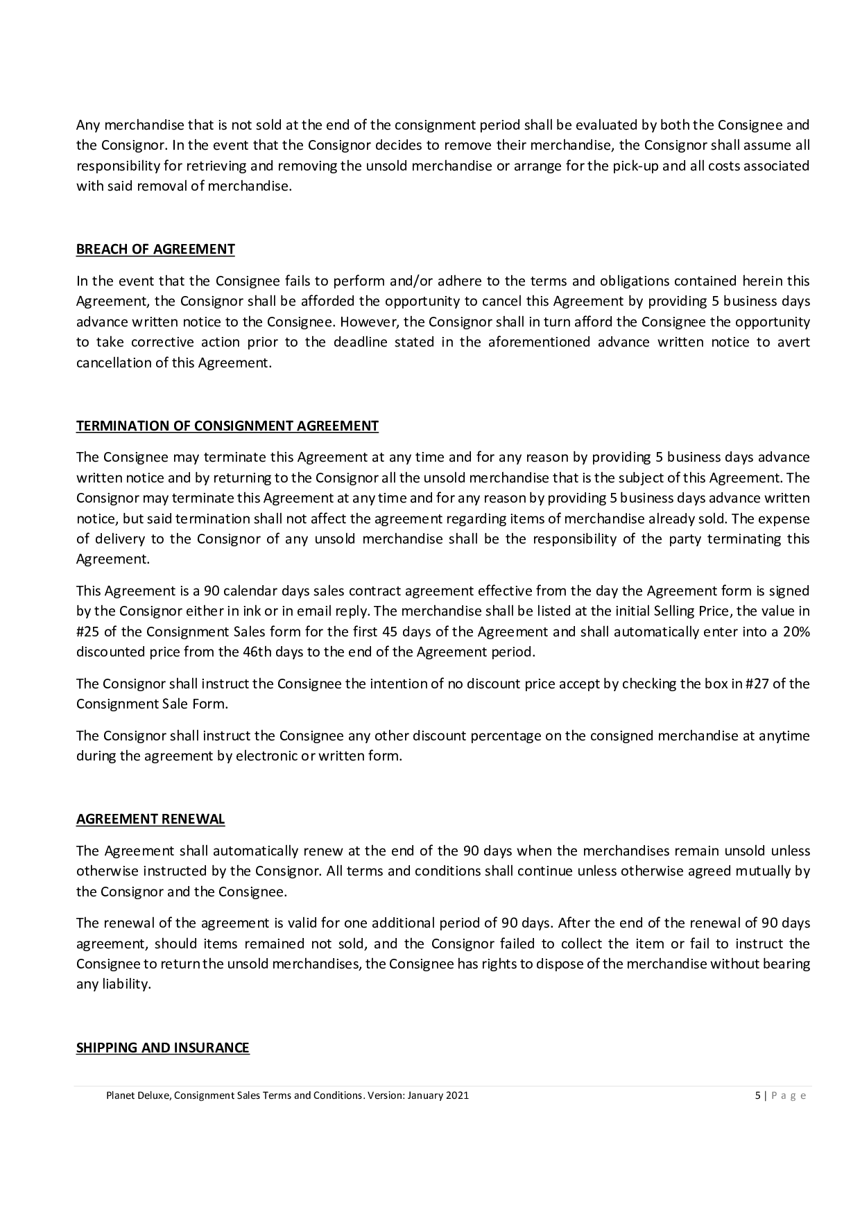 Consignment Sales Agreement 3