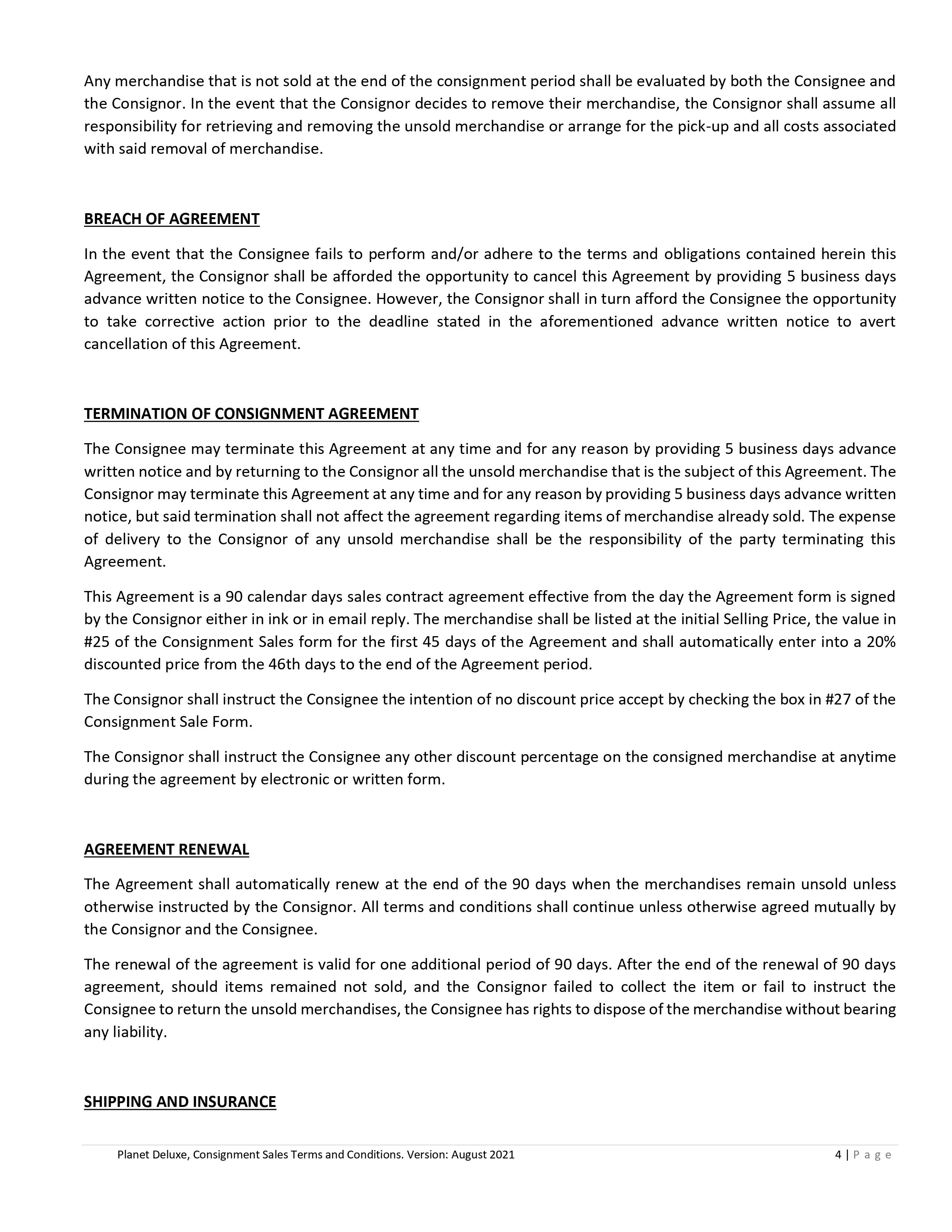 Consignment contract page 3