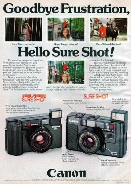 Amateur's photography ads from 80s 1