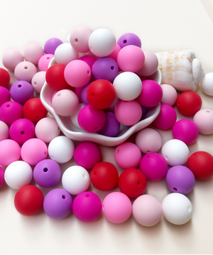 DIY silicone teething beads.