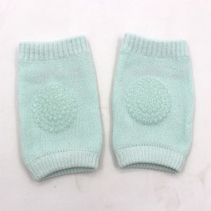 Cotton baby knee protector with rubber grip