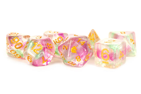 MDG Dice Unicorn: Celestial Blossom 16mm Poly Dice Set
