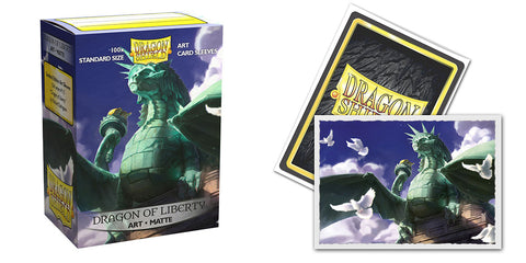 Dragon Sheild Sleeves: Matte Art: Dragon Of Liberty (Box Of 100) - Limited Edition