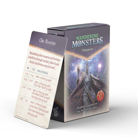 Wandering Monsters Deck: Dungeon (5E)