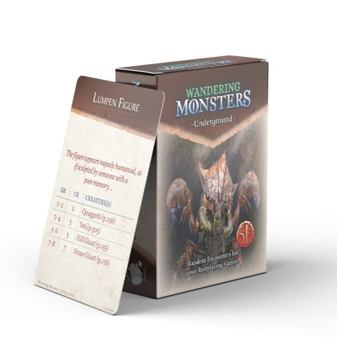 Wandering Monsters Deck: Underground (5E)