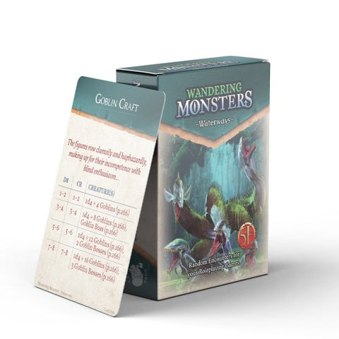 Wandering Monsters Deck: Waterways (5E)