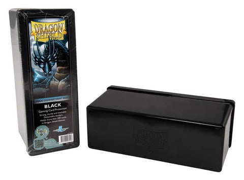 Dragon Shield 4 Compartment Card Box - Black