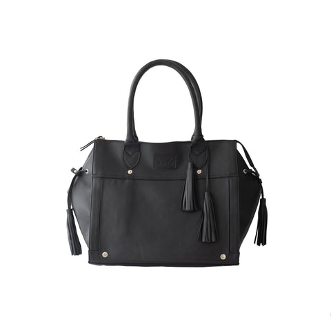 TOUDA BAG L LEATHER BLACK