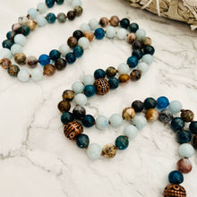 Load image into Gallery viewer, Mala beads - Apatite, Pietersite, Amazonite
