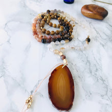 Load image into Gallery viewer, Mala beads - Agate, Sunstone, Tiger's Eye