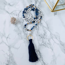 Load image into Gallery viewer, Mala beads - Sodalite, Howlite