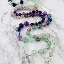 Load image into Gallery viewer, Mala beads - Rainbow Fluorite