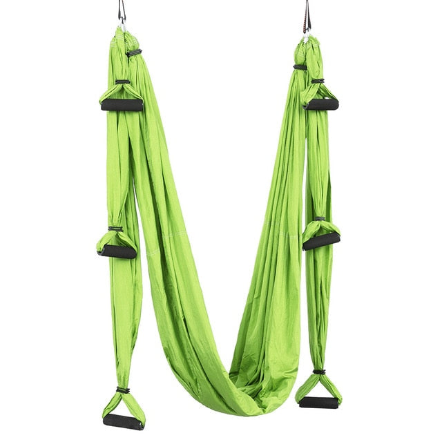 6 handle Yoga hammock no stretch indoor fitness parachute belt