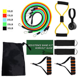 11pcs Pull Rope Fitness Exercises Bands