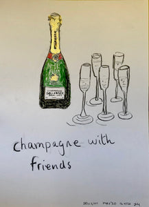 14. Champagne with friends