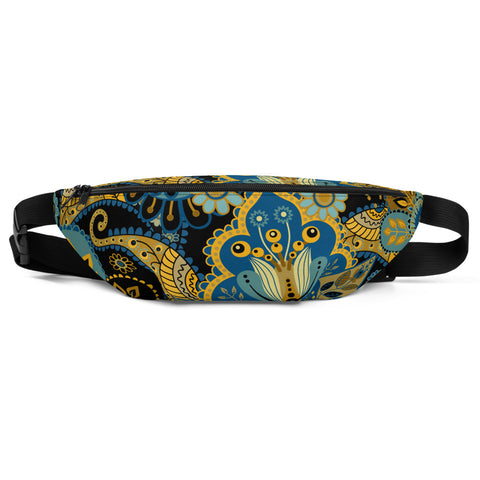 Fanny Pack  Black Wonder Flowers