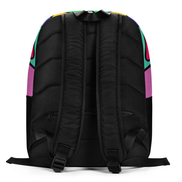 Alien Color Explosion, hand-drawn pattern - Minimalist Backpack