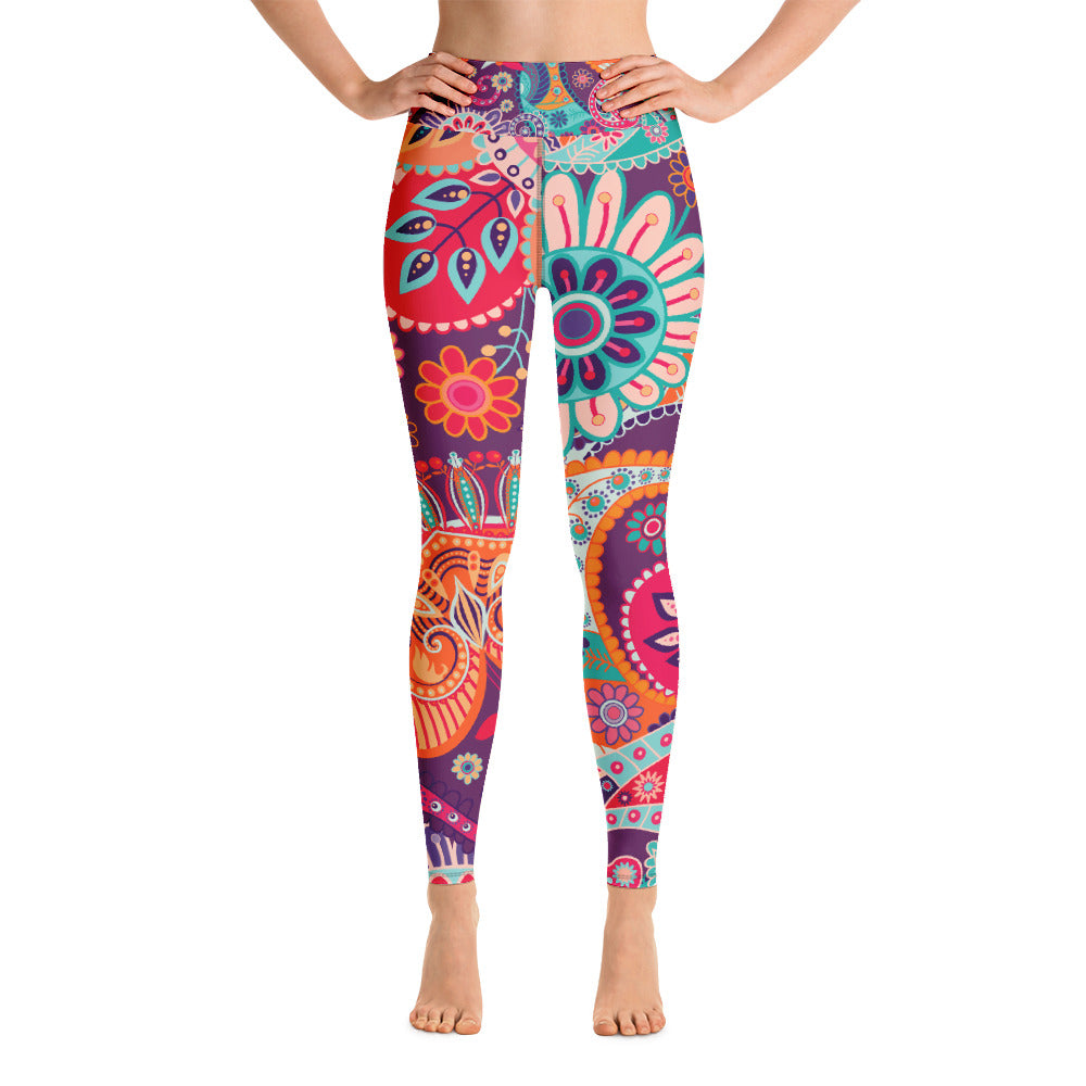 Yoga Leggings Wonder Flowers