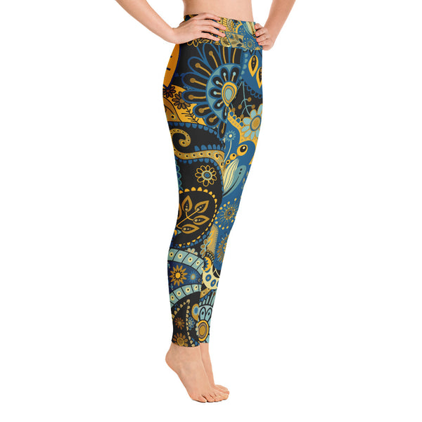 Yoga Leggings Black Wonder Flowers