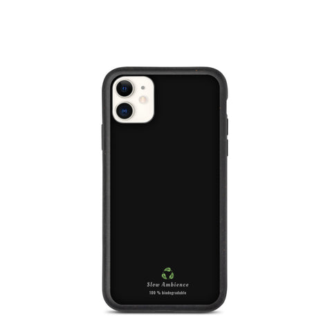 Biodegradable iPhone case - Simple Black with Organic sign