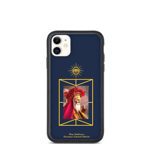 Biodegradable iPhone case Varanasi Benares Sadhu, limited edition, Navy Blue