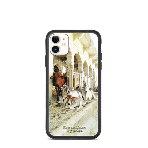 Cows of Rajasthan, Pushkar, India - Biodegradable iPhone case, original photography