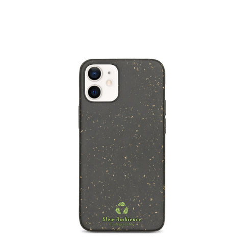 Biodegradable iPhone case - Original not painted Bio Material, Green Logo