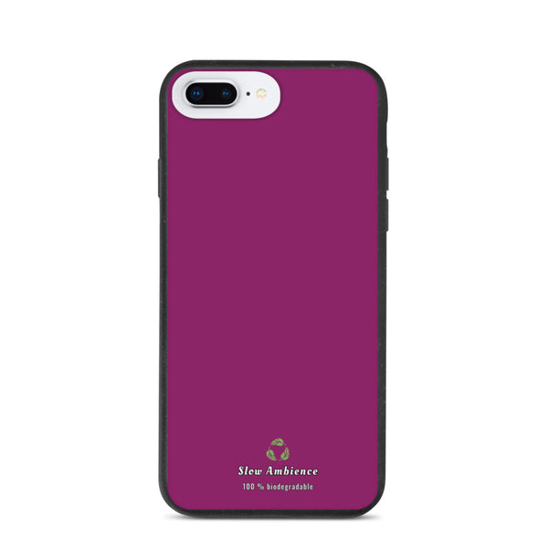 Biodegradable iPhone Case Simple Purple with Organic Sign
