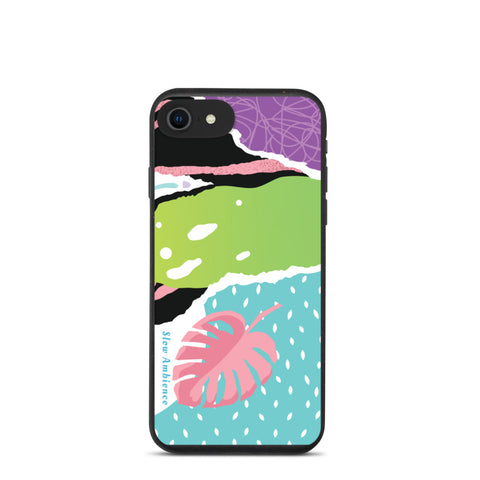 Biodegradable iPhone case - Multicolor Bright Tropical