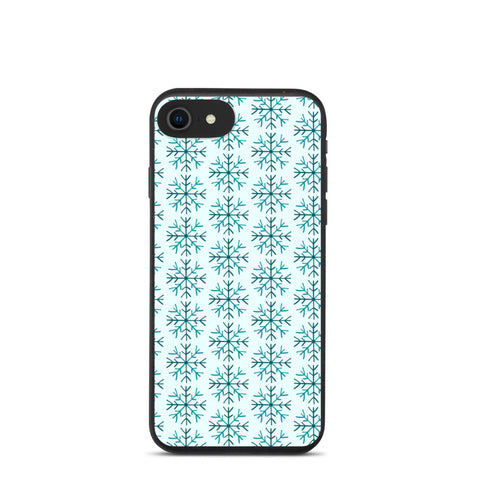 Biodegradable iPhone case - Blue Snowflake