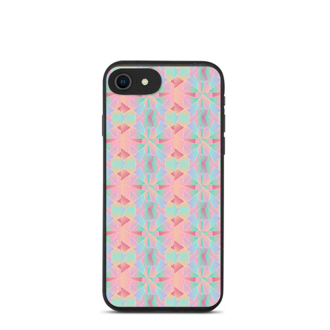 Biodegradable iPhone case - Pink & Blue Pattern