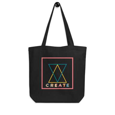 Create! Inspiration Eco Tote Bag. Organic Cotton