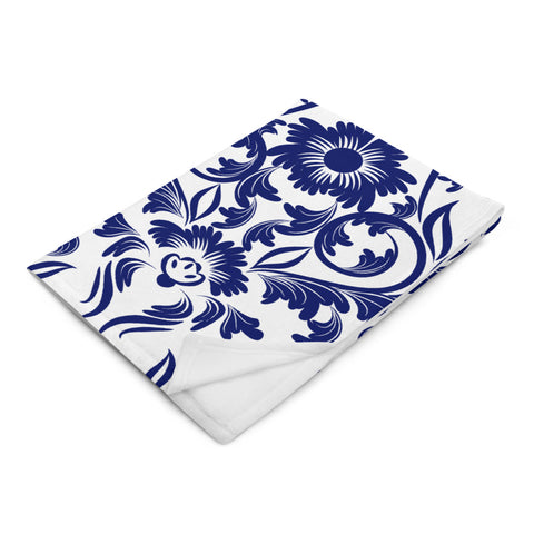Throw Blanket - Blue China