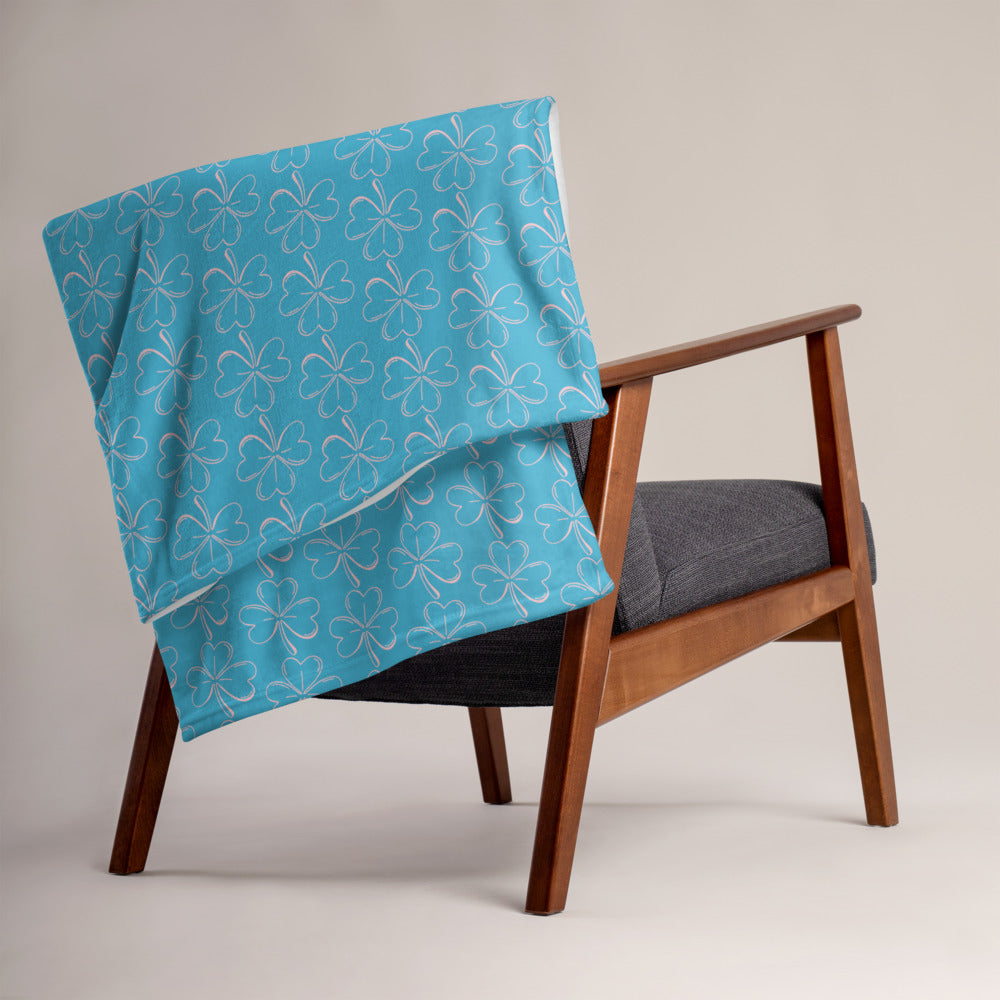 Throw Blanket - Blue Clover