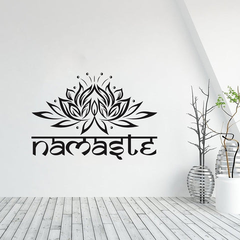 Namaste & Lotus Sticker for your ambient space