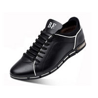 Men's Leather White Stich Lace-Up
