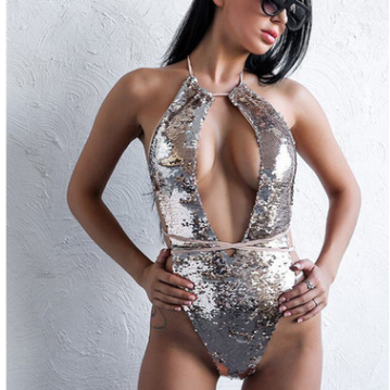 Women's Sequin One-Piece Swimsuit