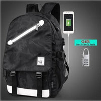 Waterproof Anti-Theft USB Backpack