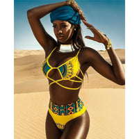Women's Retro Ankara Multicolor One-Piece* Swimsuit