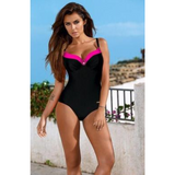 Women's Solid & Color Trim One-Piece Plus-Size Swimsuit