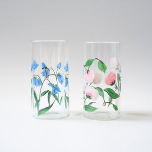 Sweet Pea and Bluebell Highball Glasses
