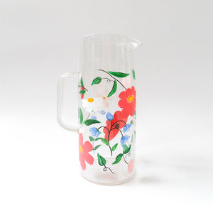 Mixed Flowers Water Pitcher