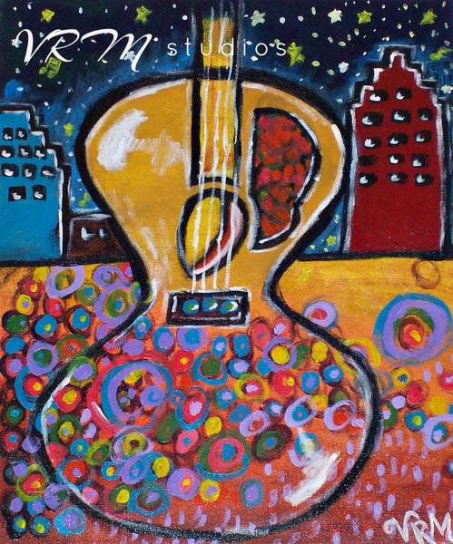 Nothing But The Music Matters, mexican folk art print on lustre photo paper, unmatted or matted